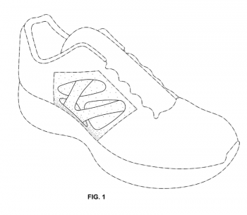Figure 1 of Nike Design Patent D649759